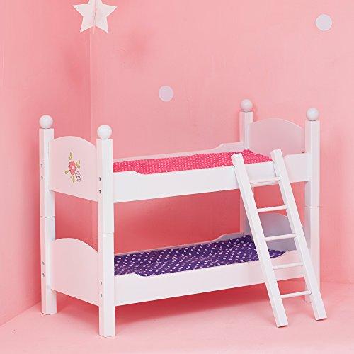 Olivia's Little World TD-0095A Babypuppen-Möbel Puppen-Etagenbett, Weiß (Möbel Doll 18-zoll-puppen)