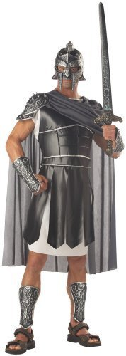 Deluxe Roman Centurion Soldier Men's Fancy Dress Greek Costume Stag Party Outfit (Men: 42/44) by california costume