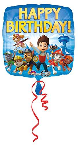 amscan 3018001 Folienballon Paw Patrol Happy Birthday, Mehrfarbig (Party Kostüm Internationalen Versand)