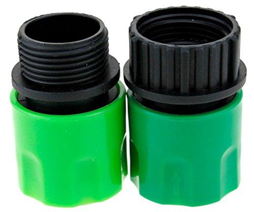 Topways® Garden Hose Adaptors Connector Extensible Tuyau d'arrosage mâle et Femelle Adaptateurs Connecteur pour Tap et Spray Vert