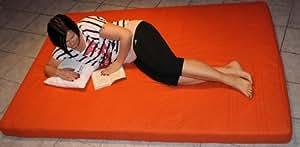 Gästebett - Matratze in 140 x 200 x 10 cm in Top Qualität (Orange)