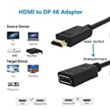 HDMI to DisplayPort Converter 4K,1080P@60Hz,Active FOINNEX HDMI 1.4 to DP 1.2 Adapter,USB Powered for PS3,PS4,XBOX One,360 to TV,Monitor,Male to Female.
