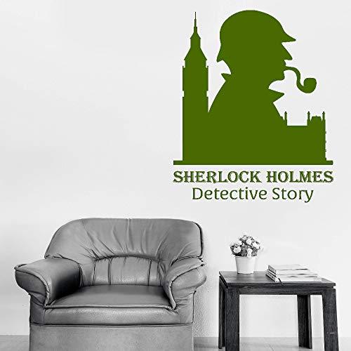 xingbuxin Sherlock Holmes Classico Adesivo Citazioni Detective S Adesivi Murali in Vinile per Camerette Arte Murale Ragazzi Sala Giochi Decor 5 57x76cm