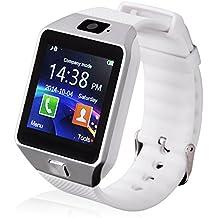 GT dz09Bluetooth Smart Watch Reloj de pulsera bluetooth Android IOS Cámara SIM Sport plata blanco