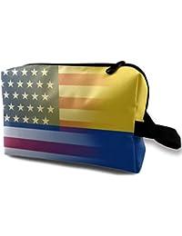 Colombia Bandera Pequeños Bolsas de Cosméticos Bolsa de Maquillaje de Viaje Organizador