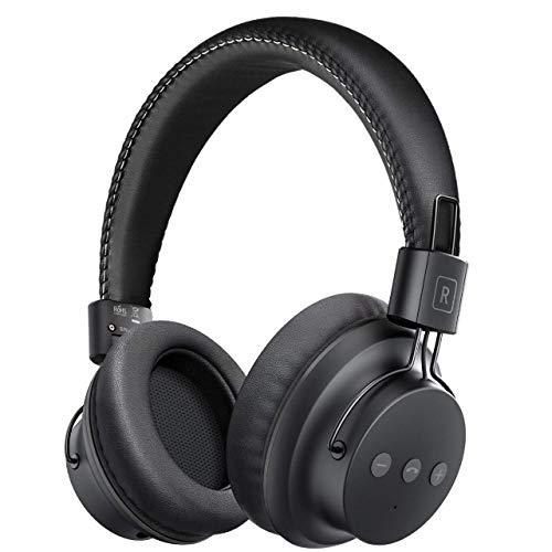 Mpow H1 Cuffie Bluetooth 4.1, Cuffie Bluetooth CSR Over-Ear, Autonomia 20 Ore, Cuffie Bluetooth Pieghevole Ergonomico con Microfono, Riduzione di Rumore, Auricolari Bluetooth per Smartphone e PC-Nero