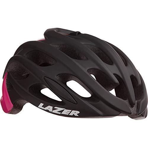 Лазерный шлем Клинок + черный матовый / розовый (M)