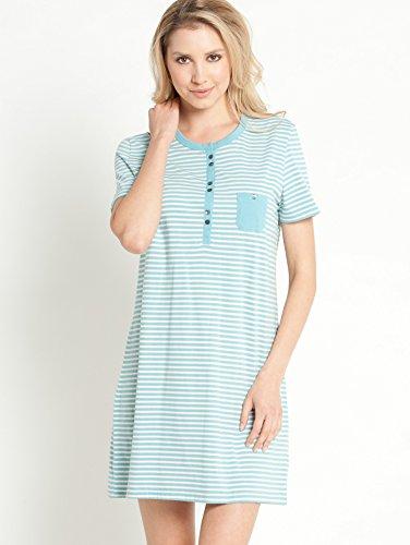 Schiesser Nachthemd Single-Jersey Türkis