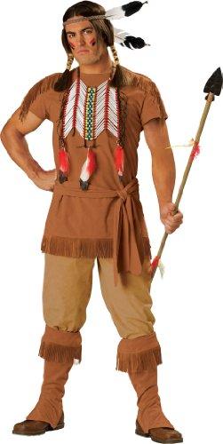 INCHARACTER - Indianischer Krieger Kostüm - Größe - Indian Brave Für Erwachsene Kostüm