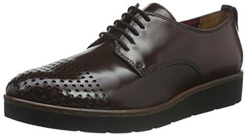 Tamaris 23301, Chaussures Oxford Pour Femme Basse Oxford Rouge (bordeaux 549)