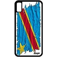 utaupia Coque iPhone XR Silicone Drapeau rdc Congo Kinshasa congolais Foot  Tissu a Apple iPhone XR 71eb84e48cb7