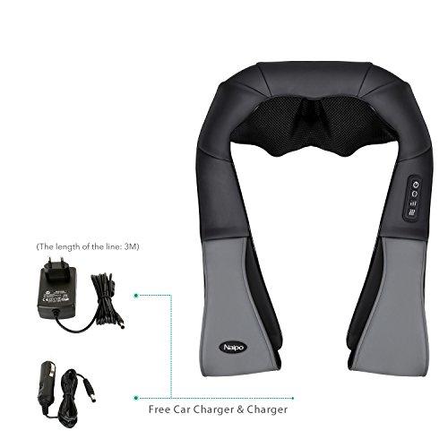 Naipo Massagegerät für Nacken Schulter Rücken mit 3D Massageköpfen – Wärmefunktion - 4