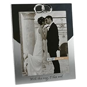This Ring Personalised 8 x 10 Photo Frame - Engraved with the couples names