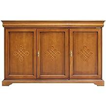 aparador puertas con frisos en madera mueble de cocina y comedor