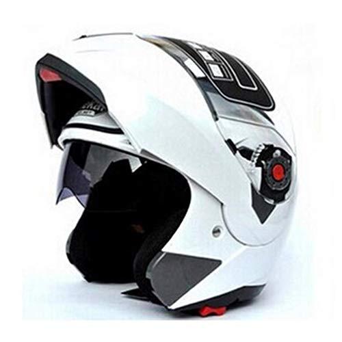 Qianliuk Cascos de Moto Adultos abatibles Doble Viseras Casco Racing Casco de Moto Full Face