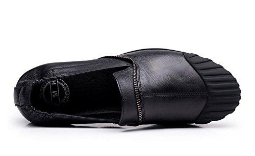 Uomo Oxfords Slip-on Scarpe sportive Scarpe in pelle in pelle Scarpe casual Scarpe Scarpe in pelle morbida Scarpe traspiranti Scarpe da sci Black