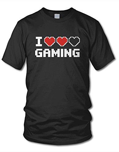 shirtloge - I LOVE GAMING - KULT - Gamer T-Shirt - in verschiedenen Farben - Größe S - XXL Schwarz