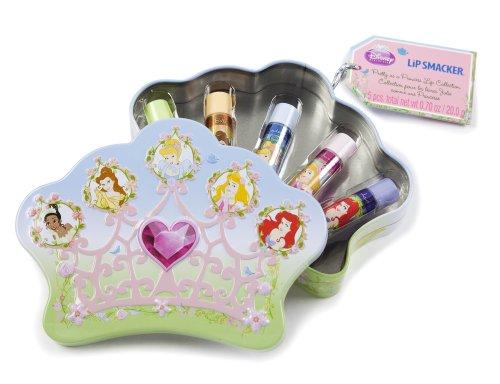 Lip Smacker Coffret 5 Baume à Lèvres Disney Princesse