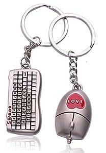 porte clefs geek amoureux clavier et souris