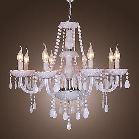 YKQJING FONTANA - Lampadario in cristallo con 8 lampadine . 110v