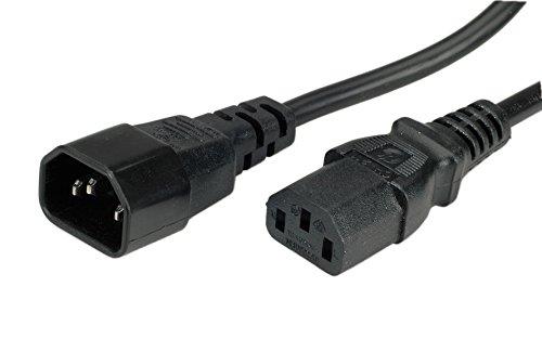 ROLINE Strom-Kabel mit Kaltegerätstecker | IEC320 C14 Stecker / C 13 Buchse   Schwarz 3 m