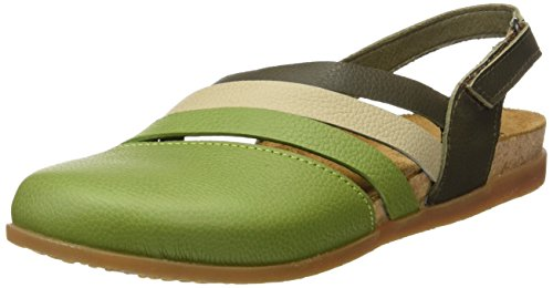 El Naturalista Damen Nf45 Soft Grain Zumaia Closed-Toe Sandalen Mehrfarbig (Green Mixed)