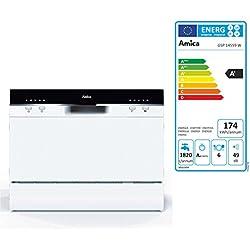 Amica GSP 14559 W Entièrement intégré 6places A+ lave-vaisselle - Lave-vaisselles (Entièrement intégré, Blanc, Noir, boutons, 1,5 m, 1,5 m)