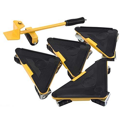 RSGK Dreieckiges bewegliches Werkzeug, Universalrad kann bewegt und tragbar Sein, schwere Güter und Möbel leicht zu bewegen, kann 400-500 kg standhalten, Rutschfester Griff bequemer Griff