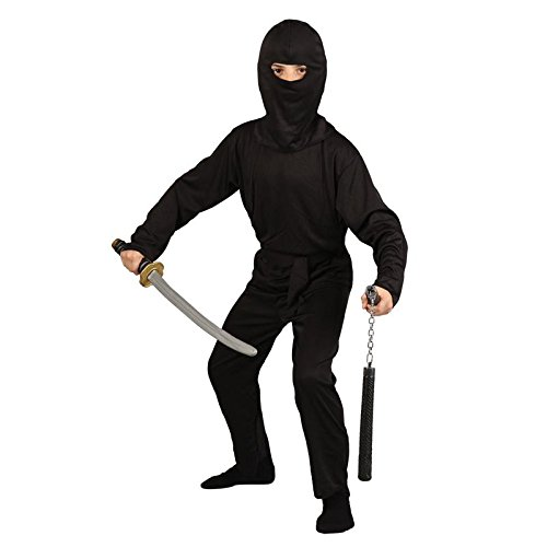 inja Shinobi Historical Halloween Party Fancy Dress Costume (Dark Ninja Kostüm)