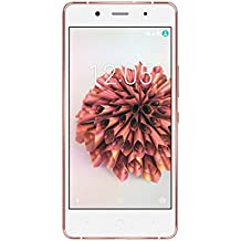 "BQ Aquaris X5 Plus - Smartphone libre Android de 5"" (4G LTE, Qualcomm Snapdragon 652 Octa Core, 16 GB almacenamiento interno, 2 GB RAM), color blanco, rosa y dorado"