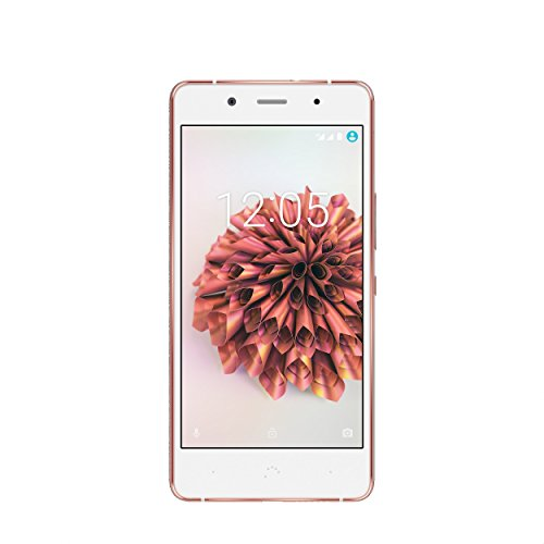 BQ Aquaris X5 Plus - Smartphone de 5in (4G LTE, Qualcomm Snapdragon 652 Octa Core, memoria interna de 16 GB, 2 GB RAM, cámara de 16 MP) blanco y rosa dorada - (Reacondicionado por BQ)