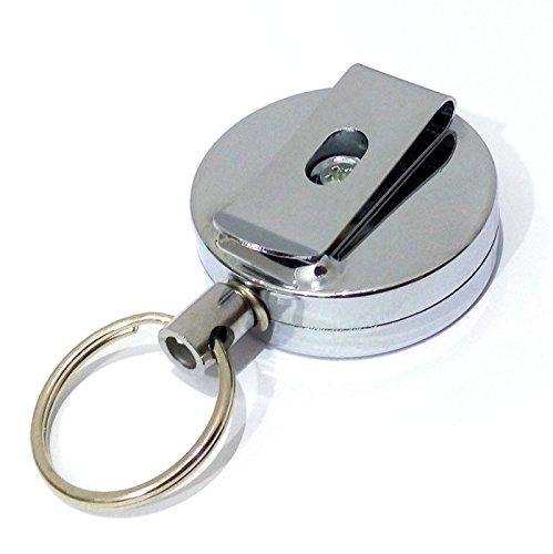 Super UD portachiavi, alta Max Filo elastico 63cm corda catena chiave di sicurezza Easy Pull Chiusura EDC Strumento Telescopico Universale
