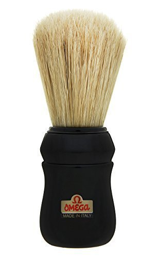 Black Omega 49 Professional Pure Bristle Shaving Brush