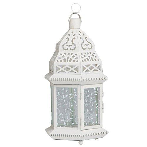 Klassischen europäischen Burg-Kerze-Halter Hohl Eisen-Glas Laterne romantische Heimat Kerze Ornamente-M