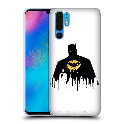 Stadtbild 1 T-shirt (Head Case Designs Offizielle Batman DC Comics Alter Ego Stadtbild 2 Dualitaet Soft Gel Huelle kompatibel mit Huawei P30 Pro)