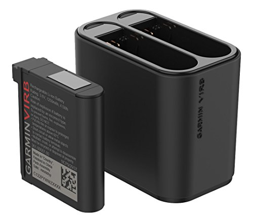 Garmin VIRB Ultra Kit Doppel-Akkuladegerät ideal für die Reise, schwarz -