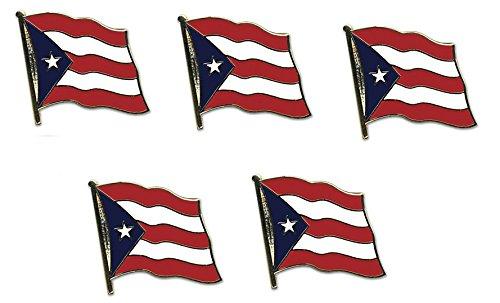 Yantec Flaggenpin 5er Pack Puerto Rico Pin Anstecknadel Fahnenpin -