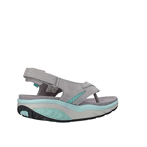 MBT 700348 KISUMU SPORT-THONG grigio pelle sandali infradito donna strappo Grigio