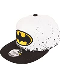 ILU Kid's Cotton Batman Snapback Hiphop Cap White and Black Freesize