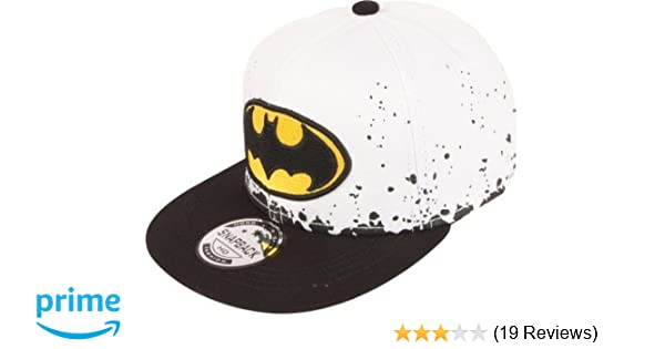 d3df70976 ILU Kid's Cotton Batman Snapback Hiphop Cap White and Black Freesize:  Amazon.in: Clothing & Accessories