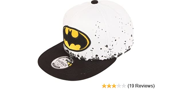 ILU Kid s Cotton Batman Snapback Hiphop Cap White and Black Freesize   Amazon.in  Clothing   Accessories ae58bf4594a7
