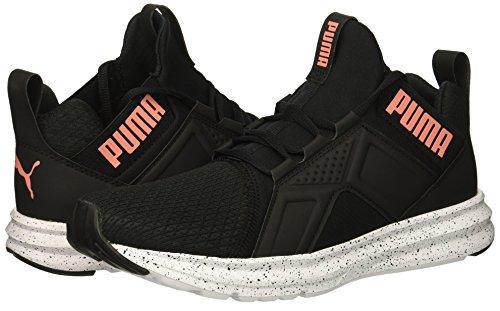 PUMA Unisex-Kids Enzo Speckle Sneaker  Black-Shell Pink  5 5 M US Big Kid