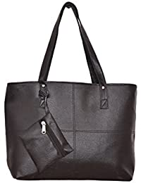 Desi Satchels Women's Handbags With One Extra Pocket - Girls & Ladies Handbags For Daily Office Use (Black)
