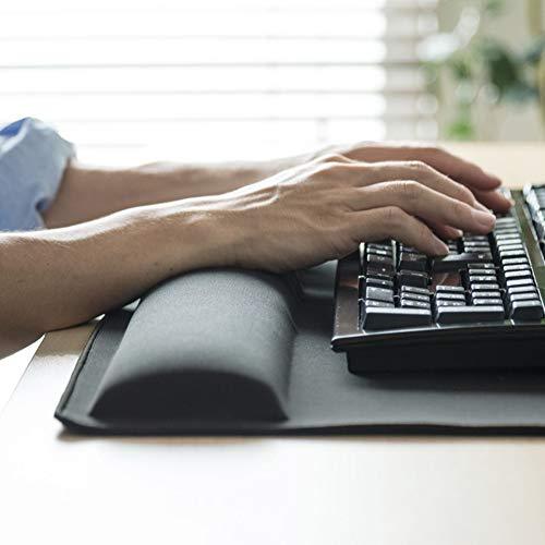 DM&FC Memory-Schaum Mouse Pad Mit Handgelenkstütze, Nicht-schlupf Gummibasis Tastatur Handgelenk Rest Ergonomisches Handgelenk Pad Für Office,schmerzlinderung-schwarz 72x35cm(28x14inch) (Tastatur-handgelenkauflage 14 Zoll)