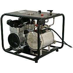 HPDAVV 110 V Système de plongée sans Huile avec Tuyau et respirateur, réservoir de gaz, Respiration directe, Deux Sorties d'air, Service après-Vente au Royaume-Uni, vidéo de Fonctionnement