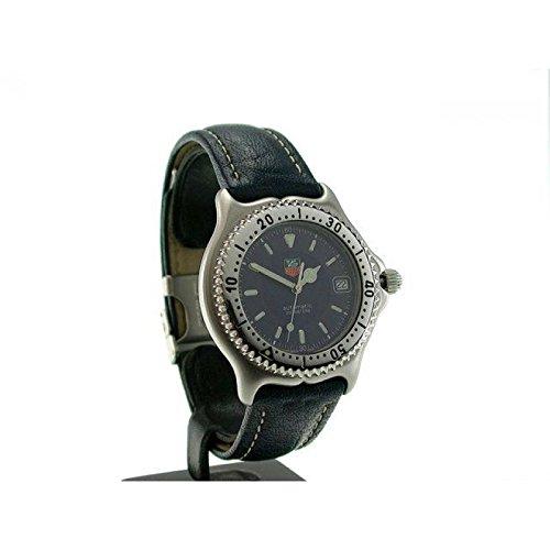 Preisvergleich Produktbild Uhr Tag Heuer Unisex wi2111Schalter Stahl Quandrante blau Armband Leder