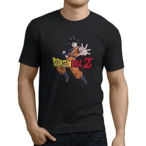 Dragon Ball Z: Son Goku (Official Merchandise) - Herren T-Shirt, Größe: S, Farbe: schwarz