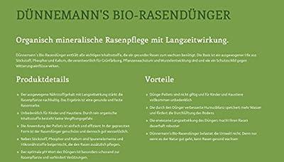 Dünnemann´s Biorasendünger - mit Langzeitwirkung -Frühjahrsdünger - 5 kg - 1PACK, für 50 m² - natürliche Humusbildung - TORFFREI - Rasendünger - Bio Rasendünger - Öko - Biodünger - Rasenduenger von Dünnemann´s GmbH - Du und dein Garten