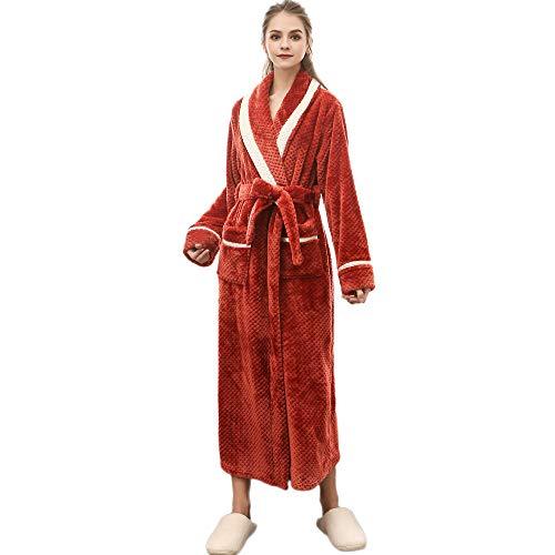 Damen Dessous Weihnachten Luckycat Winter verlängerter korallenroter Plüsch Schal Bademantel langärmeliger Robe Mantel Sleepwear Underwear Nachtwäsche Unterwäsche - Plüsch-schals