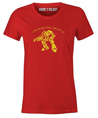 Ich mag große Bots und ich kann nicht - Damen-T-Shirt Rot